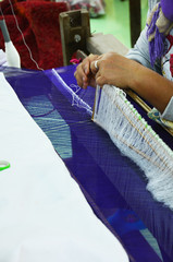 Silk weaving Handicraft