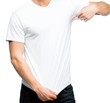 man in white t-shirt