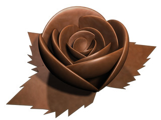 The rose of chocolate