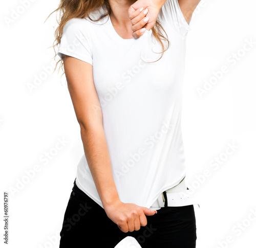 girl in white t-shirt - 60976797