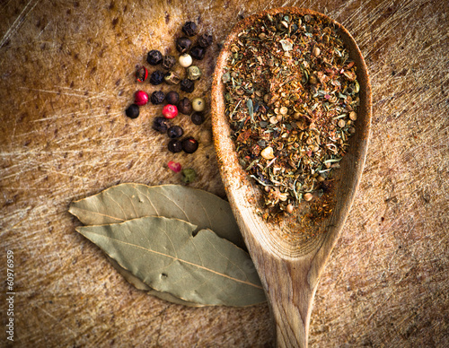 spices in a spoon - 60976959