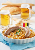 German sausage and cabbage