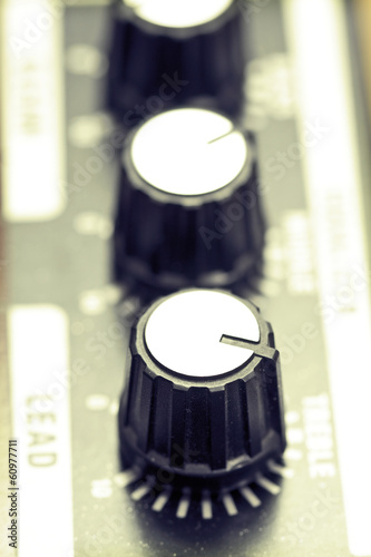 Guitar amplifier knobs