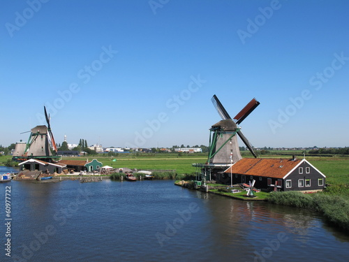 Windmühlen in De Zaanse Schans (Holland)