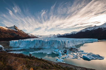 Perito Moreno glacier at late afternoon, Argentina