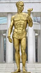 statue of prometeus , Skopje, Macedonia