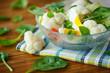 summer diet salad with cauliflower
