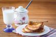 sweet toast with honey