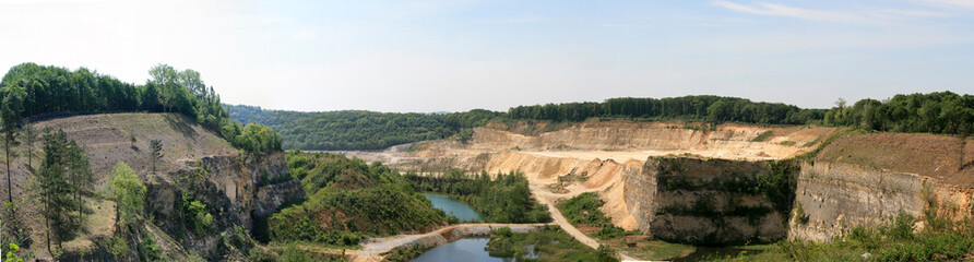 Panorama photo of a quarry in maastricht Netherlands