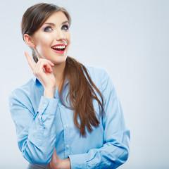 Business woman portrait. idea
