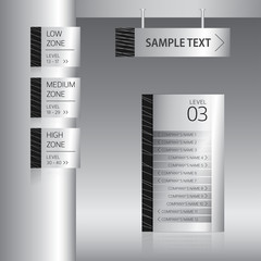 Signage display set vector