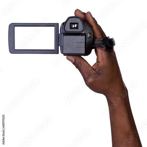 Man holding video camera