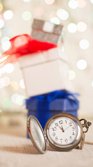 Gifts presents new year clock