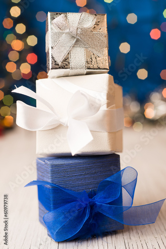 Gift boxes presents celebrations