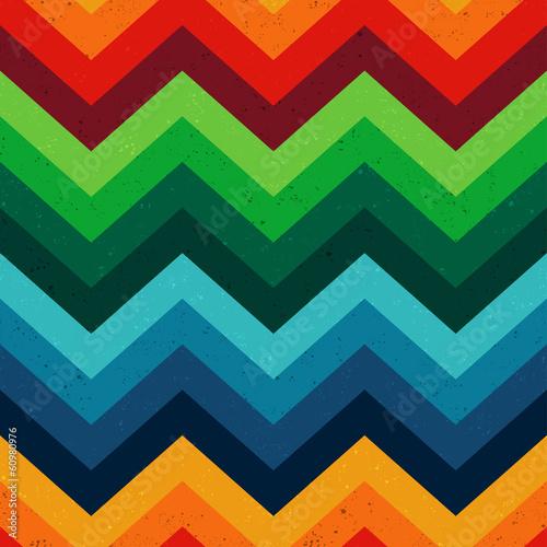 seamless vibrant chevron zigzag pattern - 60980976