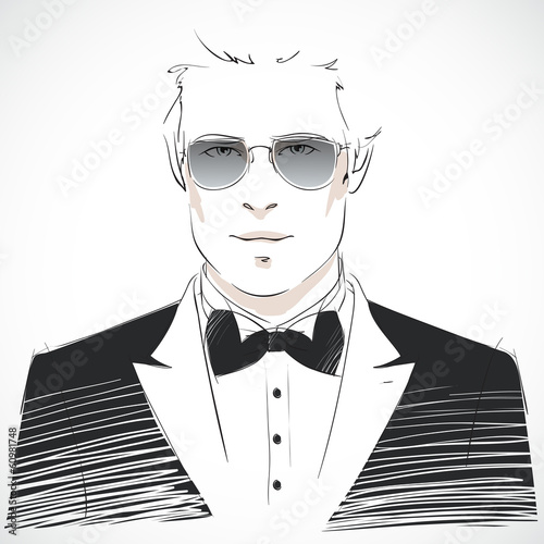 Elegant young businessman portrait