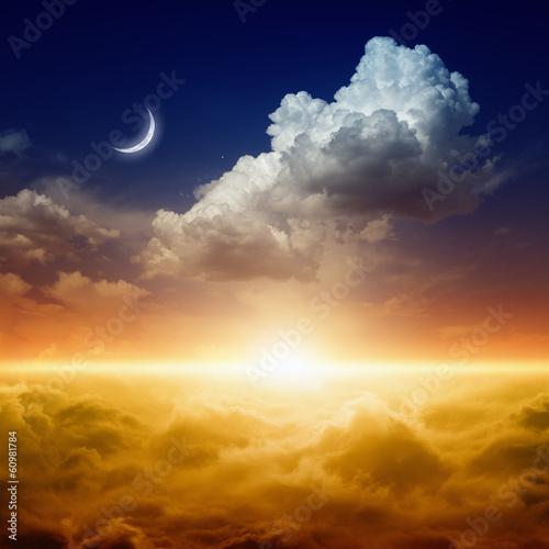 Fotobehang Zonsondergang Beautiful sunset