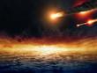 Leinwandbild Motiv Asteroid impact