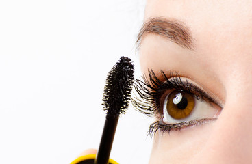 Woman eye with mascara