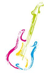 Guitare Electrique_Trace Couleur