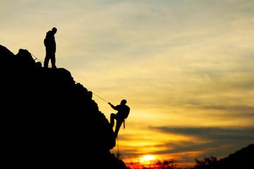 zirveye doğru tırmanmak