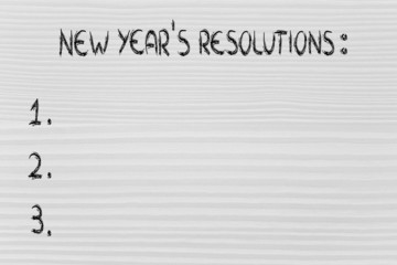 empty list of new year's resolutions and goals
