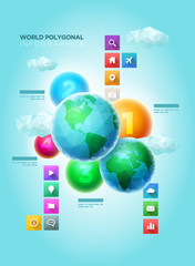 Polygonal World Infographic