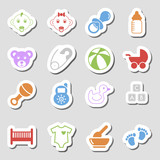 Color Baby Icons as Labes