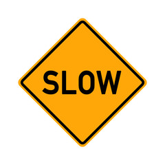 traffic sign - slow - e486