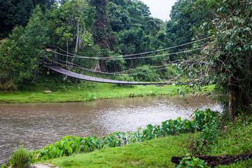 Suspension bridge at Khao Yai National Park, Thailand