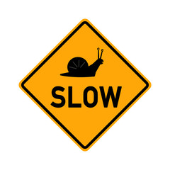 traffic sign - slow with snail symbol - e487
