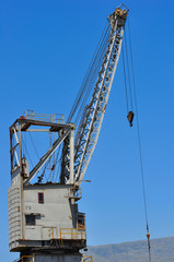 Crane on a shipyard