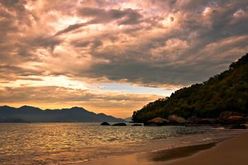Tropical Sunset in Ilha Grande Island, Rio de Janeiro State