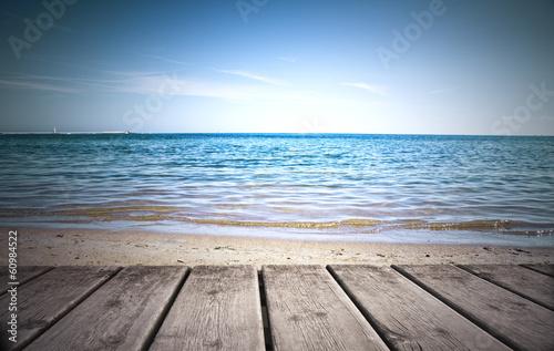Fotobehang Een Hoekje om te Dromen playa desde el embarcadero