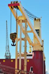 Cranes on  a shipyard