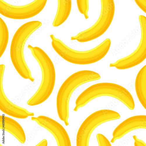 Seamless pattern of bananas, vector illustration.