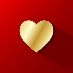 HEART ICON (valentine's day love card symbol romantic gold)
