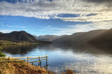 Ennerdale Water with foreground fence