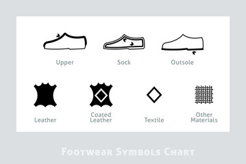 Footwear Label Icons