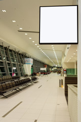 Blank signboard at airport