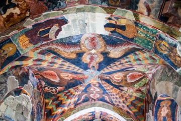 Frescoes in the church of Hagia Sophia in Trabzon, Turkey.