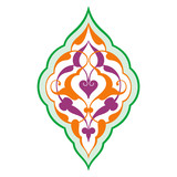 Arabic oriental ornament, floral pattern motif, arabesque, arabi