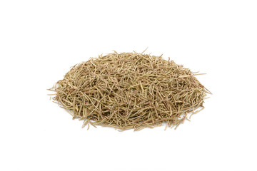 Dried Rosemary on a white