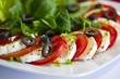canvas print picture - Tomaten mit Mozzarella
