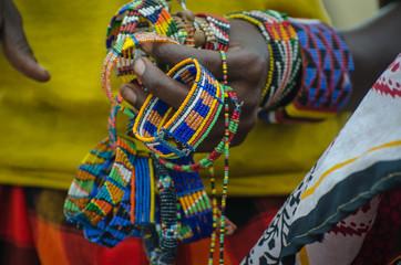 Masai Woman selling bracialet