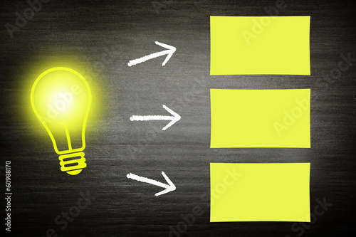 Glühbirne Zettel