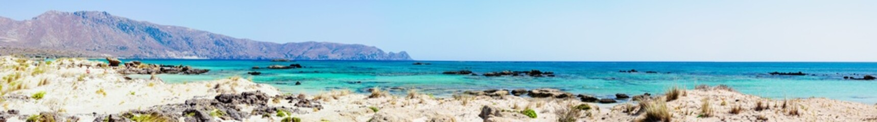 Elafonissi beach, white sand and turquoise water, Crete, Greece