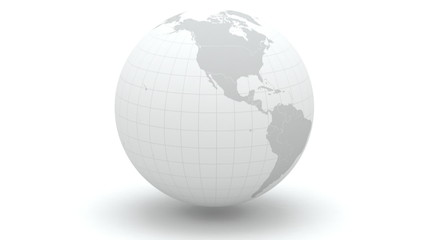 Globe. 3d. Elements of this image furnished by NASA