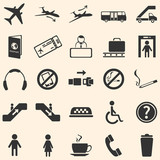 Fototapety Vector Set of 25 Airport Icons