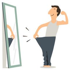 Man with slim body